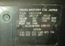 Kleurnummer Isuzu