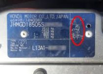 kleurnummer Honda