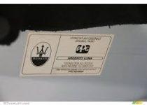 kleurnummer Maseratie