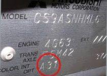 kleurnummer Mitsubishi