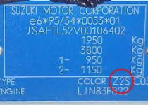 kleurnummer suzuki
